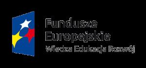 Logo: Fundusze Europejskie: Wiedza Edukacja Rozwój